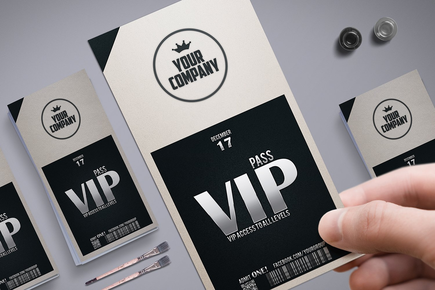 Vip Pass Stylish simple VIP PAS...