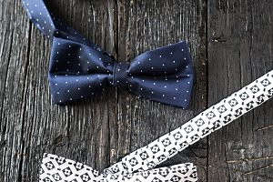 Close-up of dotted bow-tie