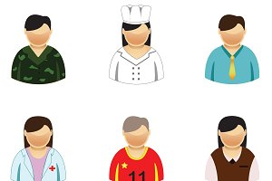People 6  Icons set