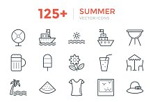 125+ Summer Vector Icons