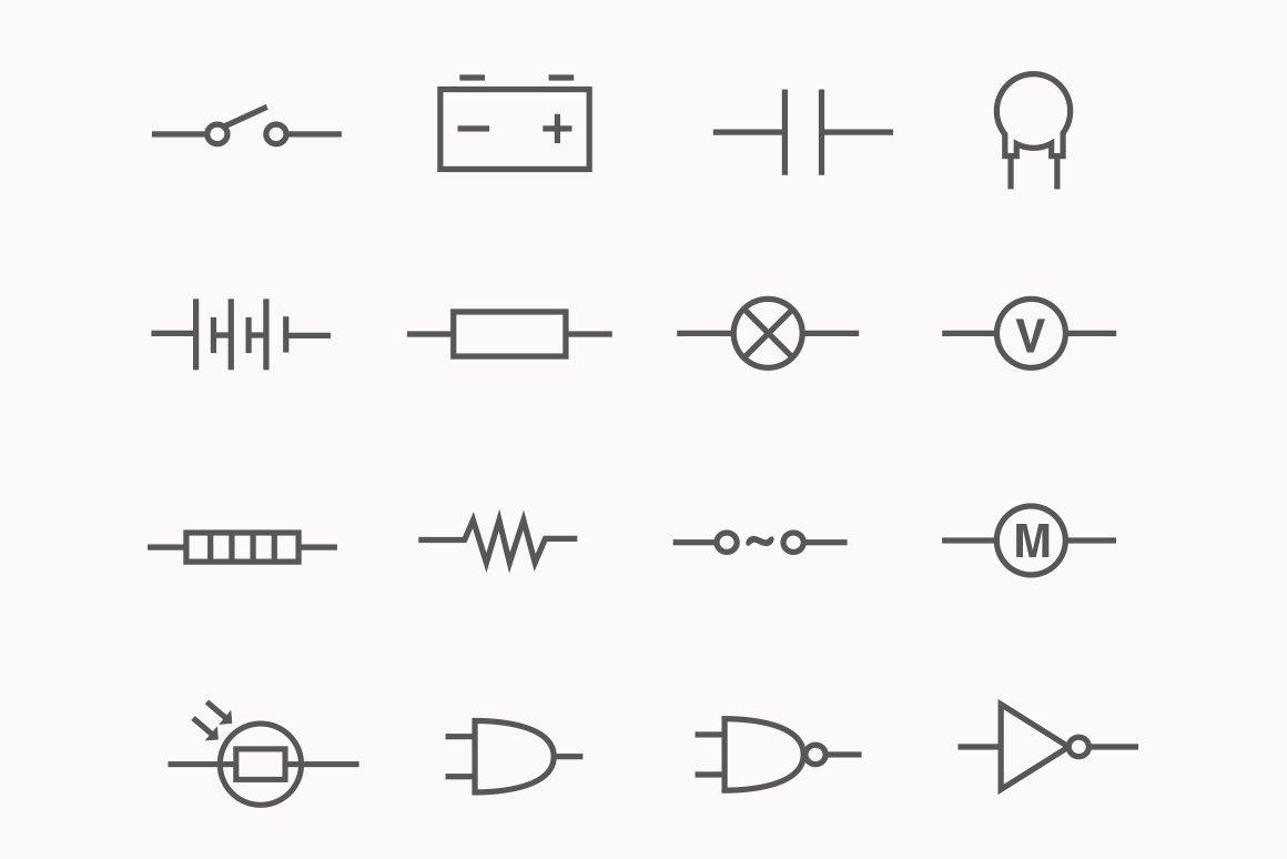24 Electric Circuit Icons ~ Icons ~ Creative Market