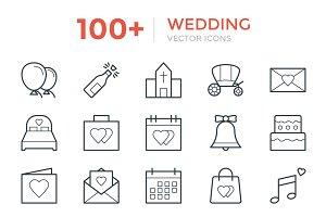 100+ Wedding Vector Icons