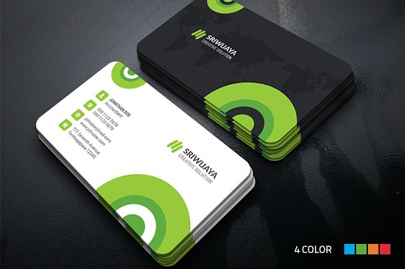 Circle business card business card templates creative market accmission Gallery