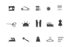 15 Sewing and Stitching Icons
