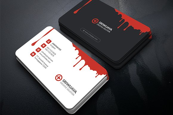 Blood creative business card business card templates creative market reheart Image collections