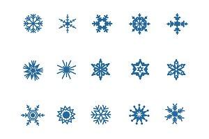 15 Snowflake Icons