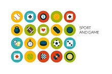 Flat icons set - Sport and Game