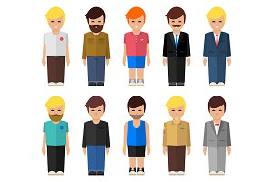 Abstract vector people icon