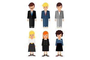Abstract business people icon