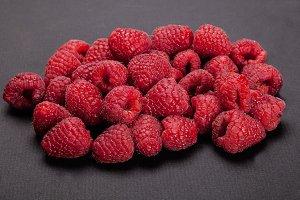 Strawberries  On blacktable.