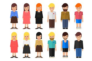 Abstract vector people icon.