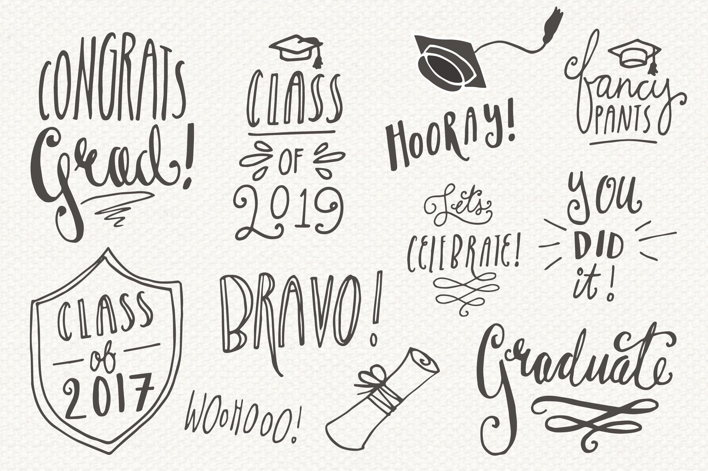 graduation overlays vector graphics creative market