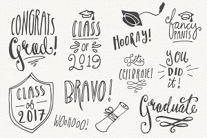 Graduation Overlays - Vector