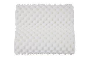 white foanm texture pillow
