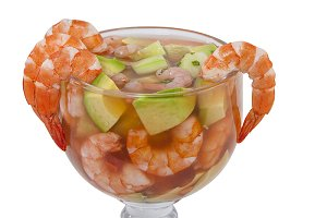 Cocktail of shrimps seafood