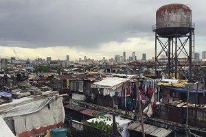 Slum in Manila, Philippines