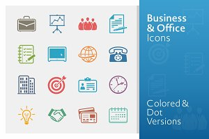 Colored Business & Office Icons
