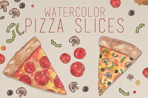 Watercolor Pizza Pack