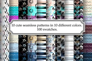 Seamless pattern pack (100 swatches)