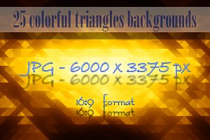 25 Colorful triangles backgrounds