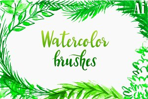 Watercolor vector brushes.