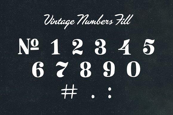Vintage Number Pack Symbol Fonts Creative Market