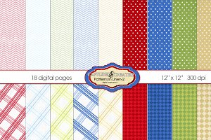 20 Patterned  Linen Papers