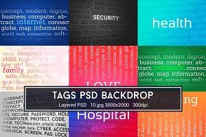 Tags PSD Backdrop