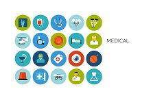 Flat icons set - Medical