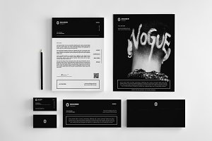 Clean Stationery Design Set