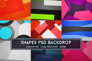 Shapes PSD Backdrop