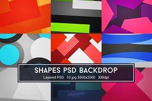 Shapes PSD Backdrop
