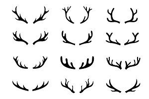 Deer head set, Antlers