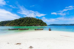 Tropical Beach and island