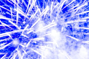 Abstract blur firework background