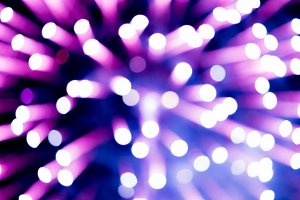 Abstract blur of firework
