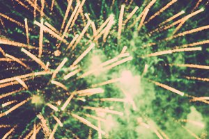Abstract blur of firework