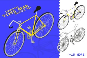Isometric fixed gear bicycle set