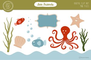 Sea Friends - Ocean Clip Art