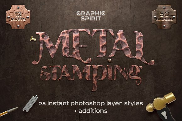Metal Stamping Photoshop St-Graphicriver中文最全的素材分享平台