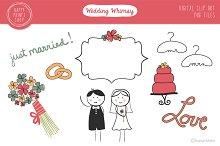Whimsical Wedding Clip Art