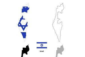 Israel country silhouettes