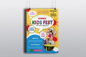 Kids Summer Camp Flyers-V263