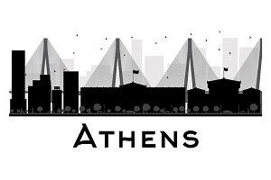 Athens City skyline silhouette