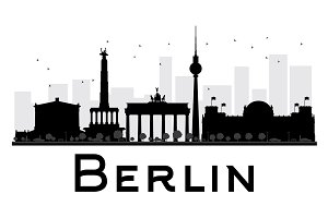 Berlin City skyline silhouette