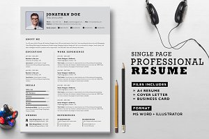 Professional Resume Set