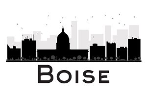 Boise City skyline silhouette
