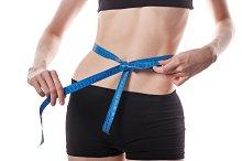 Weight loss. Slim girl