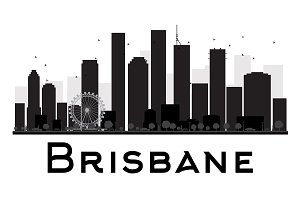 Brisbane City skyline silhouette