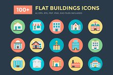 100+ Flat Buildings Vector Icons